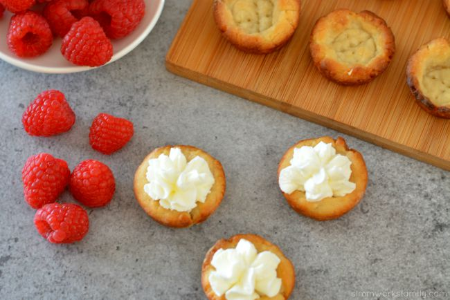 Raspberry Tarts with basic tart dough