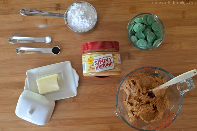 Chocolate Peanut Butter Ball Monsters ingredients