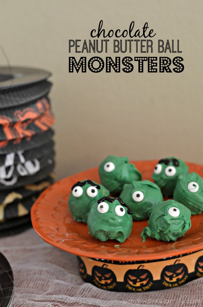 Chocolate Peanut Butter Ball Monsters