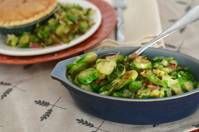 Fall Favorites Pot Pie + Brussell Sprouts with Bacon side dish
