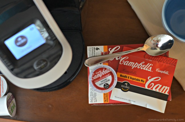 Finding Time For Lunch Useful Tips for Keurig Users - Campbell's Noodle Vegetable Mix