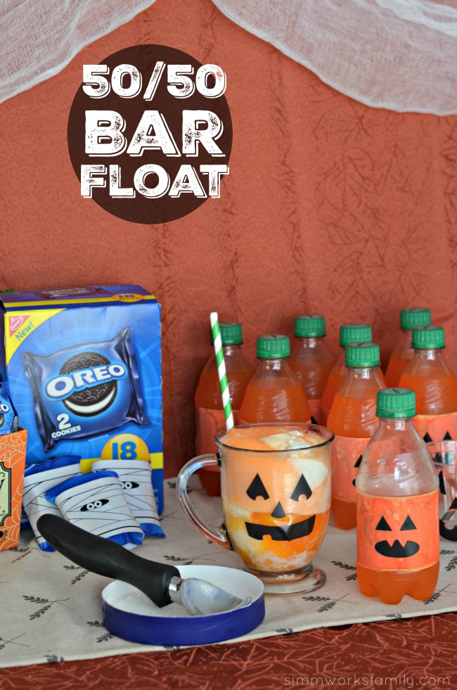 Halloween Dessert Bar With 5050 Bar Floats, No Bake Halloween Treats Snack Bar
