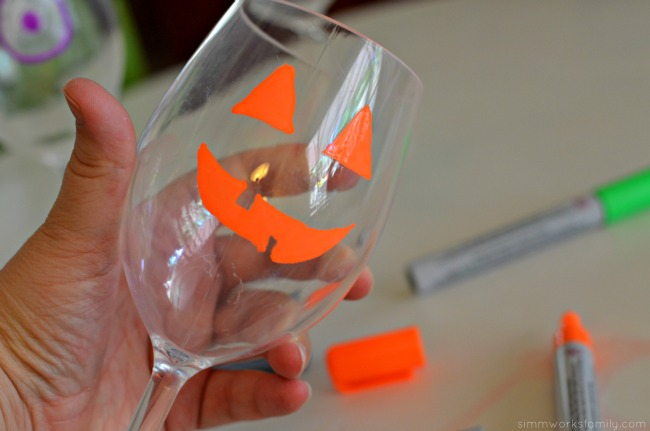 Mom's Night In Halloween Inspired Book Club wine glasses