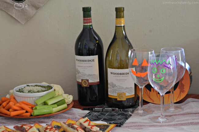 Mom's Night In Halloween Inspired Book Club with Woodbridge wine