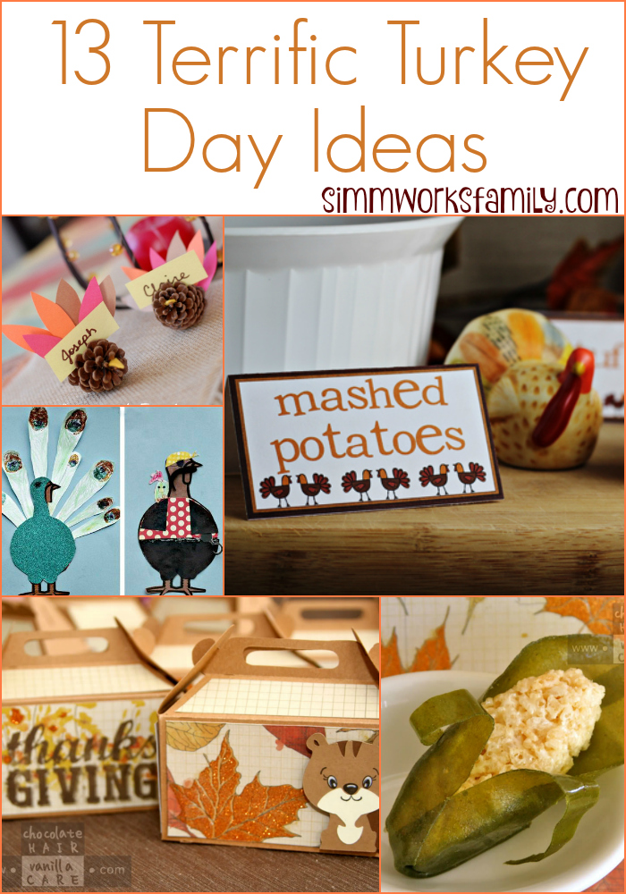 Turkey Day Ideas - crafts and decor projects for Thanksgiving