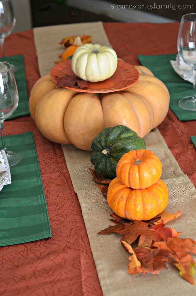 Creating The Perfect Thanksgiving Tablescape - fall foliage and squash