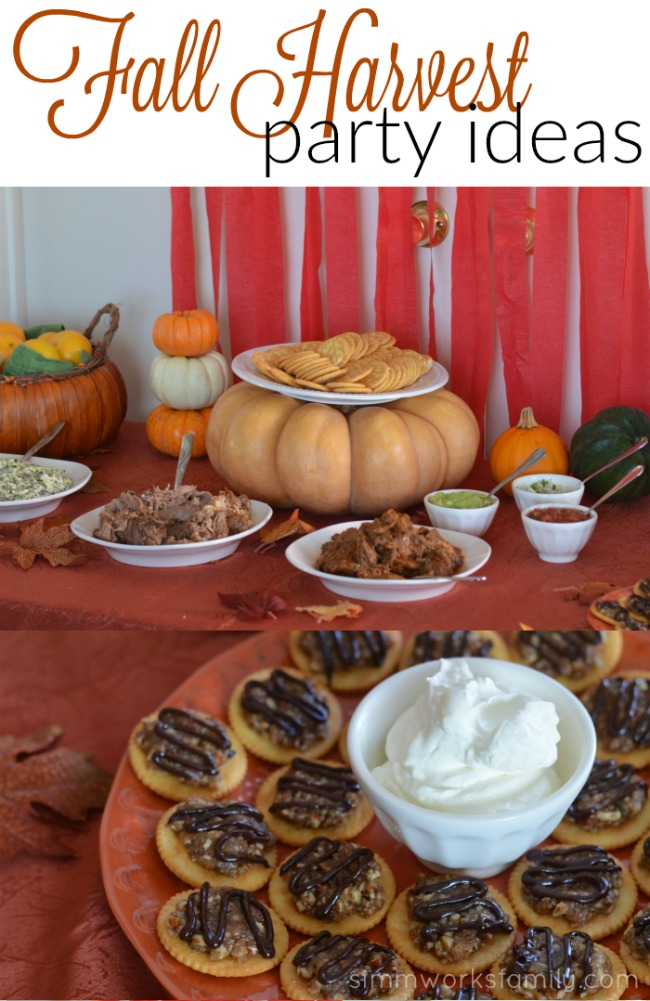 Fall Harvest Party Ideas - a simple spread perfect for any holiday get together