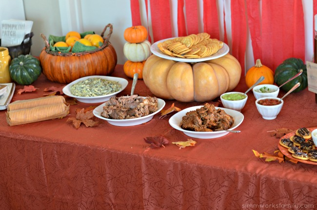 Fall Harvest Party Ideas - street taco on a ritz bar
