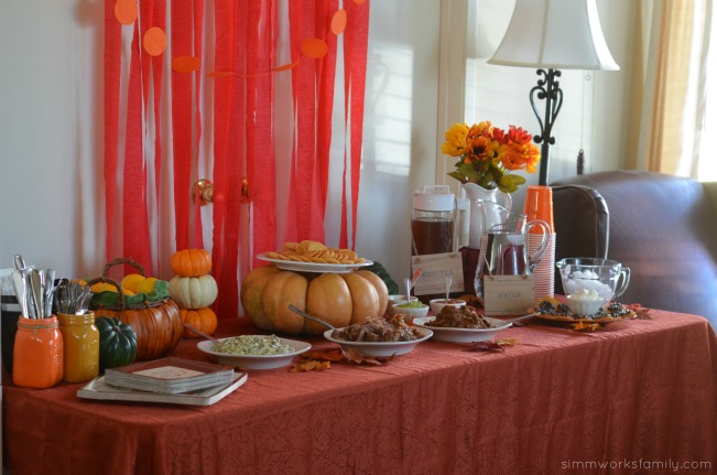 Fall Harvest Party Ideas - the spread