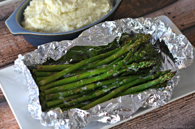 Keto Friendly Grilling Meals - foil wrapped asparagus