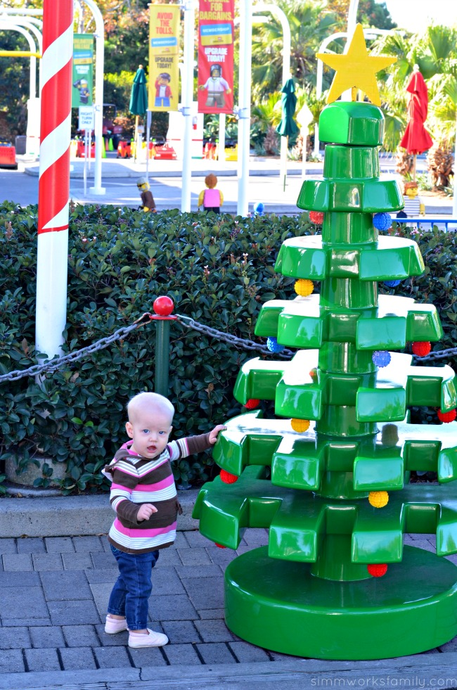 Legoland CA Holiday Snow Days - LEGO tree