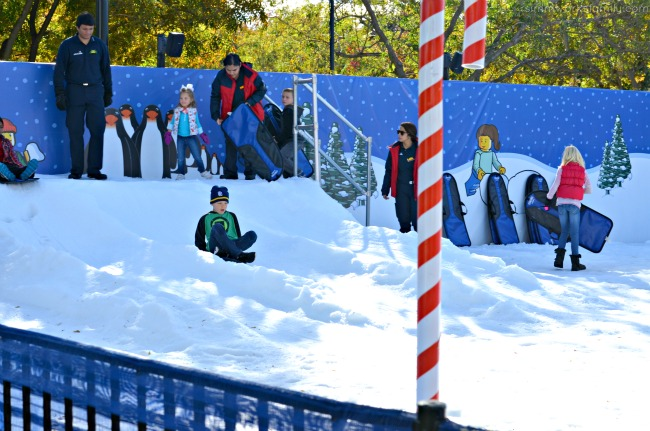 Legoland CA Holiday Snow Days - sledding