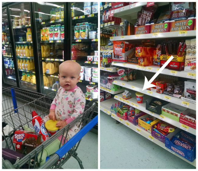 Nabisco products at Walmart