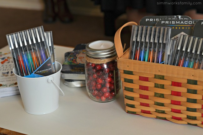 A Colorful Affair Adult Coloring Party coloring pens and pencils