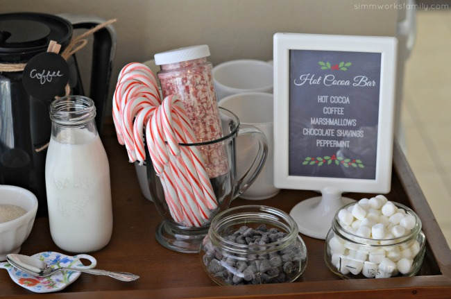 A Colorful Affair Adult Coloring Party hot cocoa bar toppings