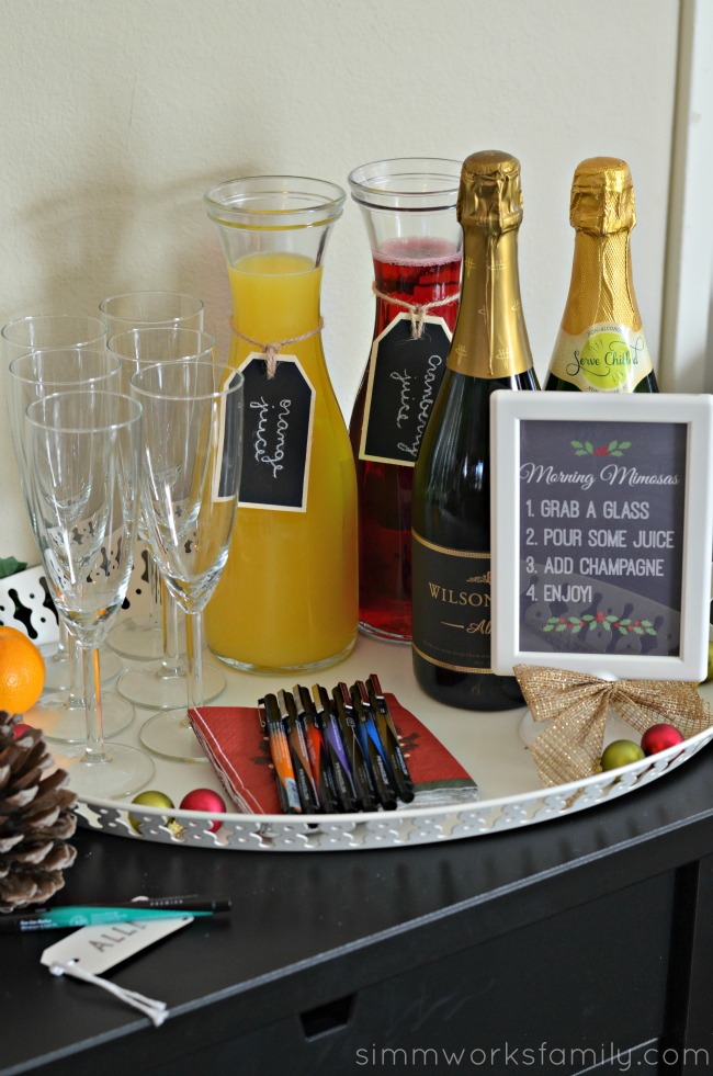 A Colorful Affair Adult Coloring Party mimosa bar