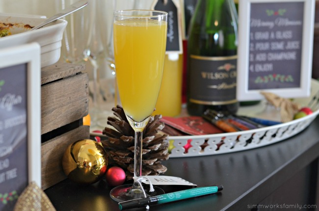 A Colorful Affair Adult Coloring Party mimosas