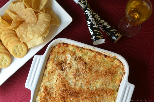 Creamy Chicken Jalapeno Popper Dip with chips and crackers