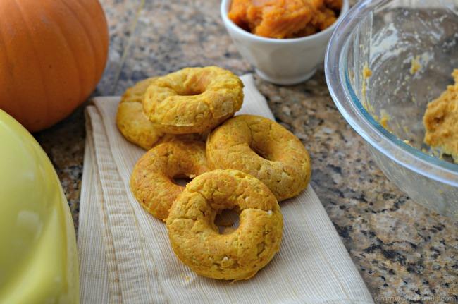 Keto Friendly Pumpkin Donuts - baked in a donut maker