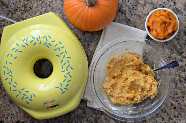 Keto Friendly Pumpkin Donuts - making the batter