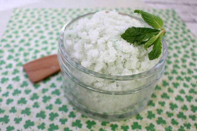 Vanilla Mint Sugar Scrub - a great way to relax