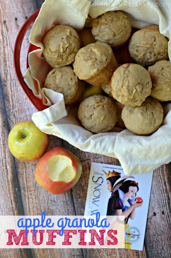 Apple Granola Muffins for Snow White