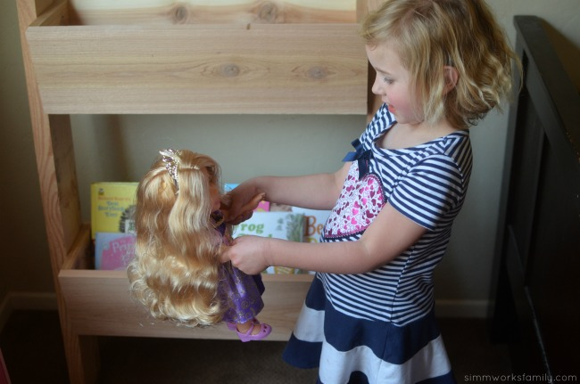 DIY Vertical Toy Storage Tutorial and twirling with princesses