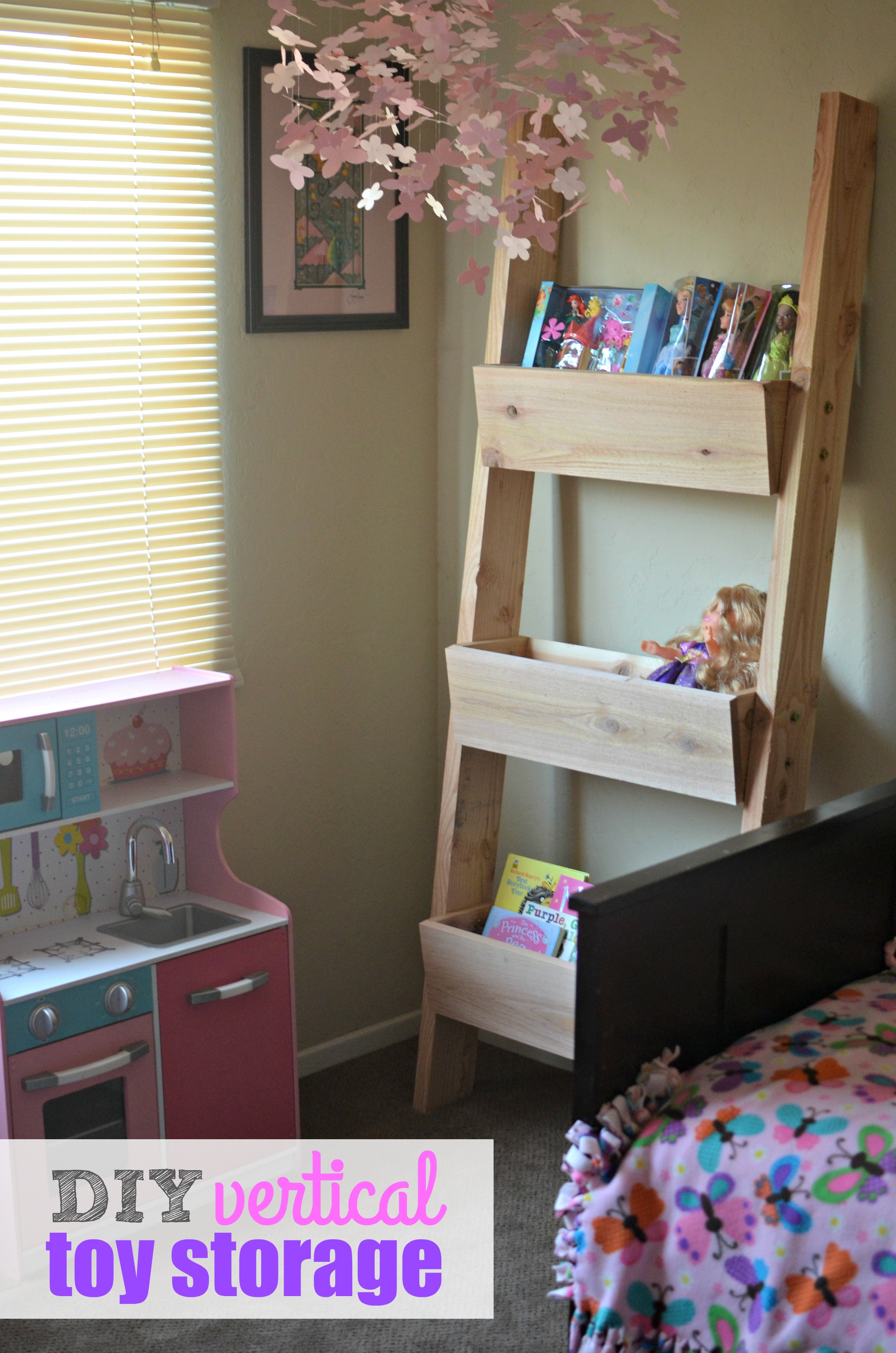 DIY Vertical Toy Storage Tutorial