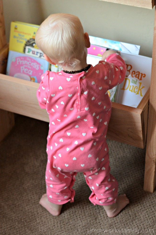 DIY Vertical Toy Storage also good for books