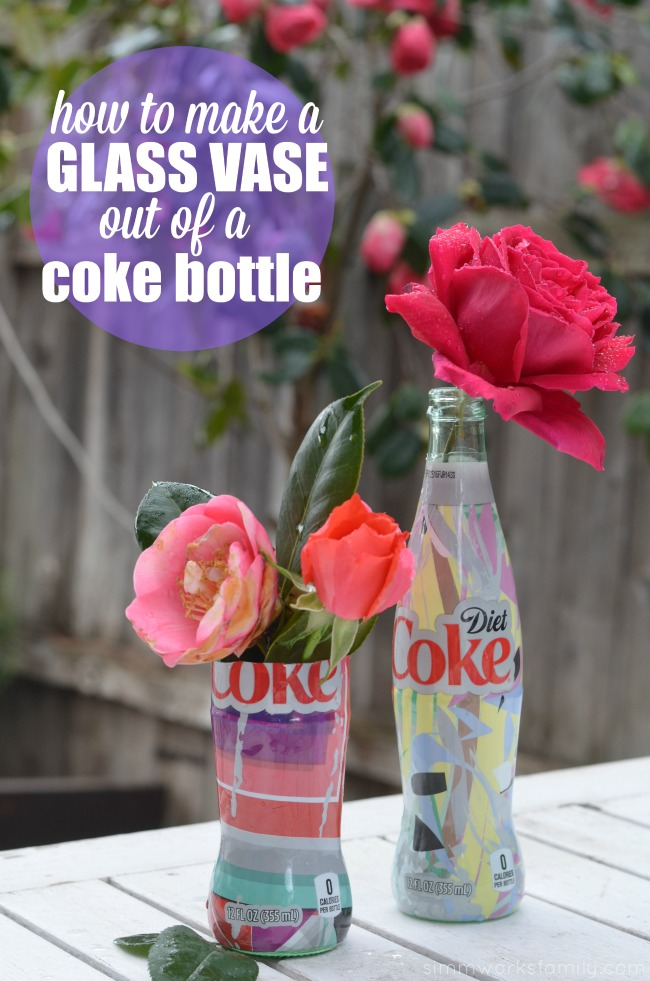 How To Make A Glass Vase Out Of A Coke Bottle - the perfect way to display garden roses
