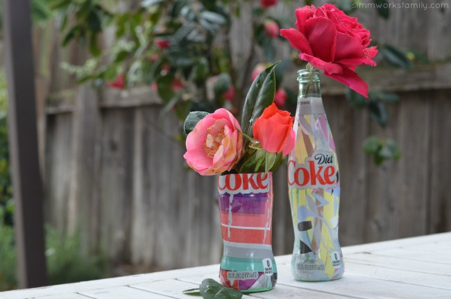 How To Make A Glass Vase Out Of A Coke Bottle using the new Its Mine Diet Coke bottles