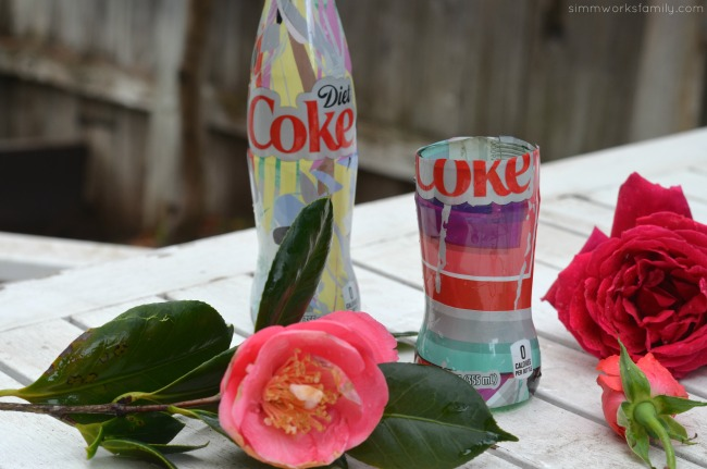 How To Make A Glass Vase Out Of A Coke Bottle with roses