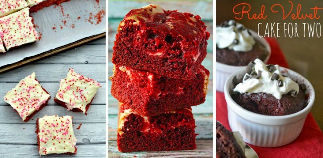 Red Velvet Desserts with a twist