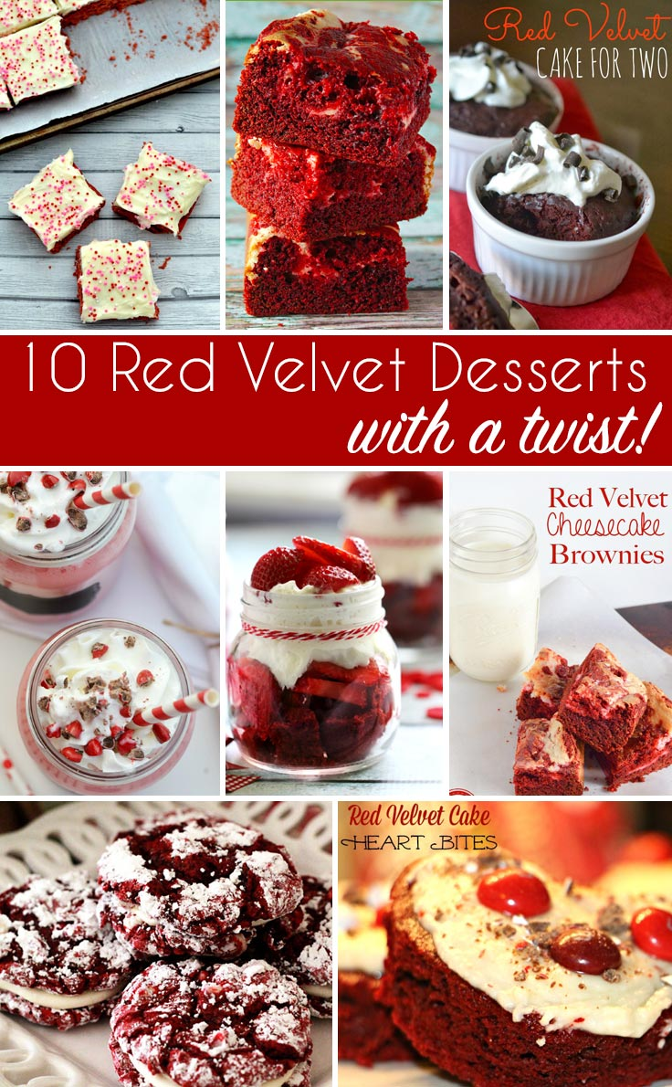 10 Red Velvet Desserts with a twist - if you're as obsessed about red velvet as I am, you have to give these a try!