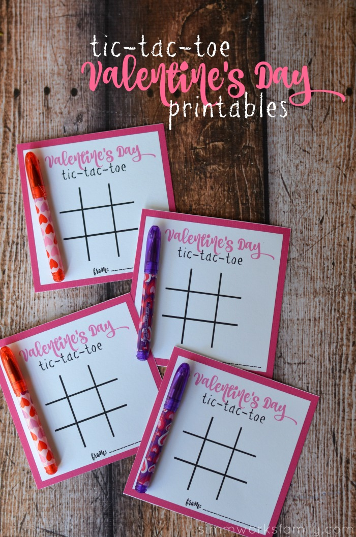 Tic Tac Toe Valentines Day Printables