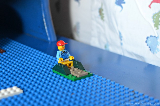 DIY Lego Side Table - a fun way to play with LEGO bricks
