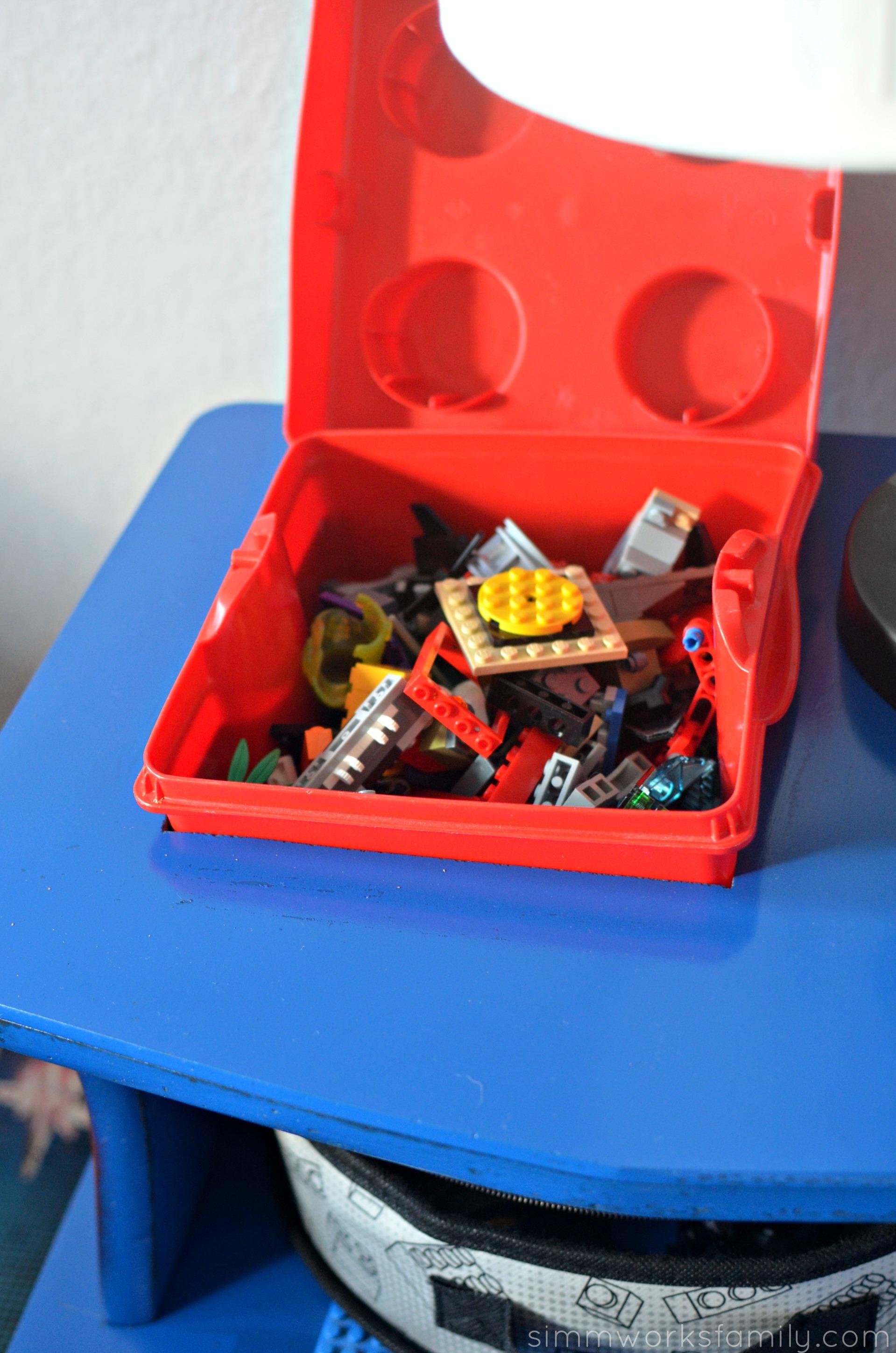 DIY Lego Side Table - built in LEGO box