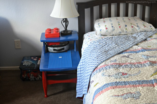 DIY Lego Side Table - turn a thrift store find into an awesome table