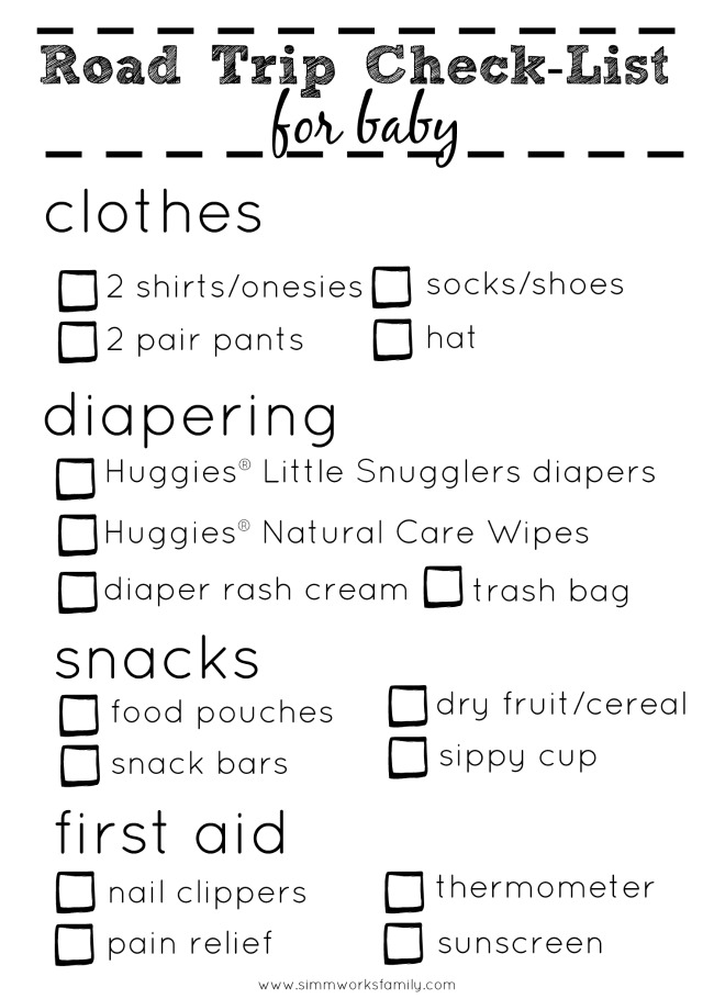 Road Trip Checklist For Baby - resized