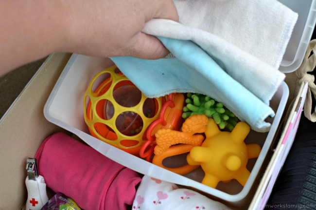 Road Trip Tips Traveling with Baby - hidden soft toys