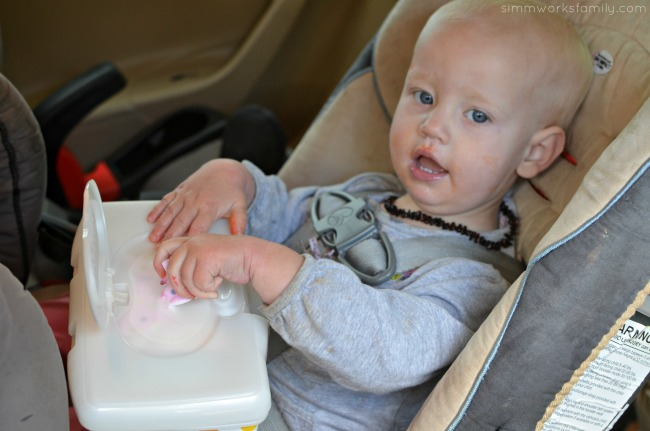 Road Trip Tips Traveling with Baby - keep an entertaining kit handy