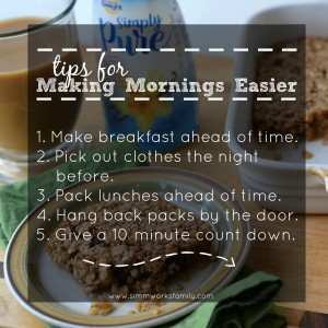 Tips for Making Mornings Easier