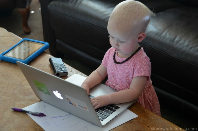 Tips for Working At Home With A Toddler - letting go of perfection