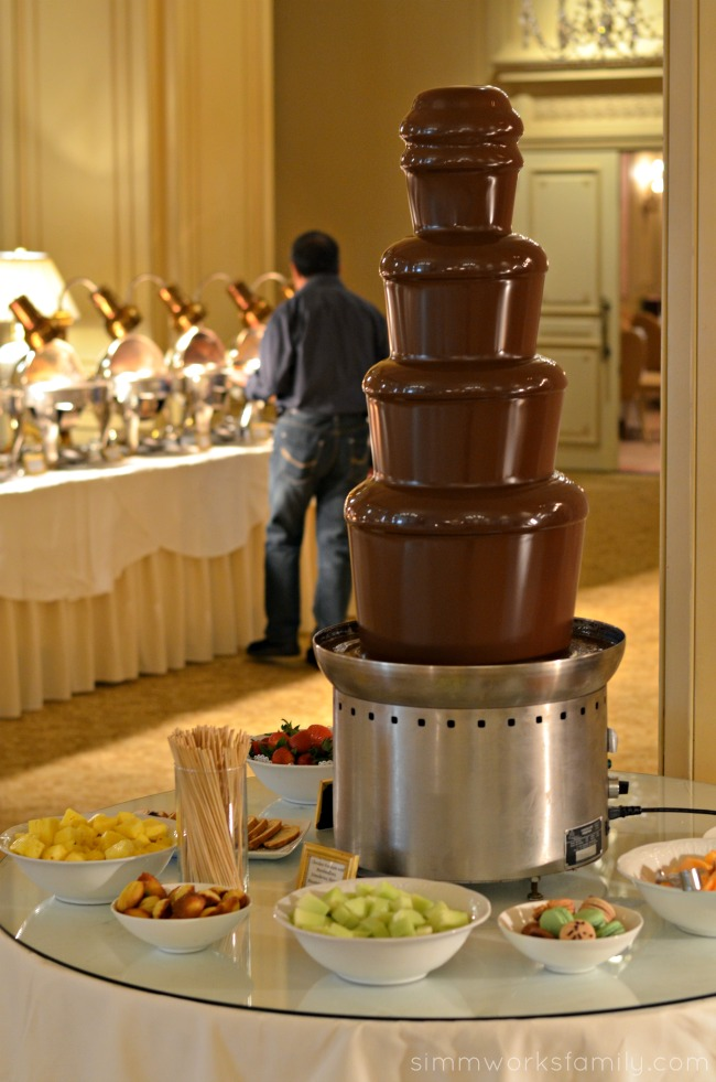 Mother's Day Brunch at the Westgate Hotel - chocolate fountain