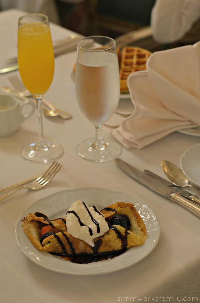 Mother's Day Brunch at the Westgate Hotel - house made crepes