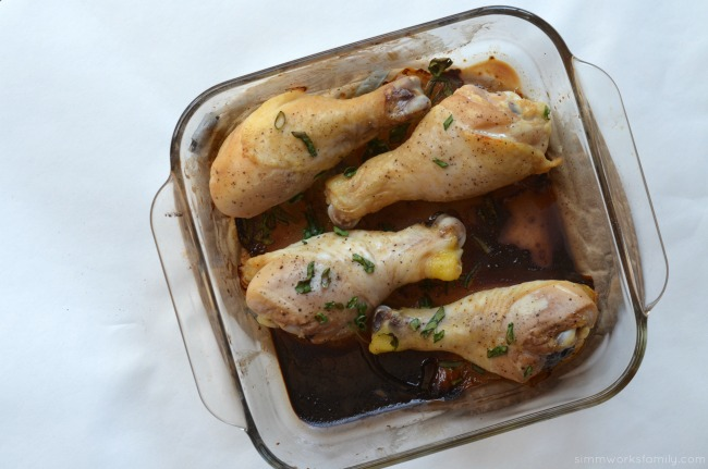 Soy Ginger Marinated Chicken Drumsticks - roasted in the oven