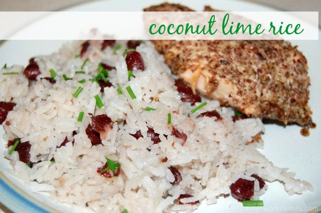 coconut lime rice - easy side in the rice cooker