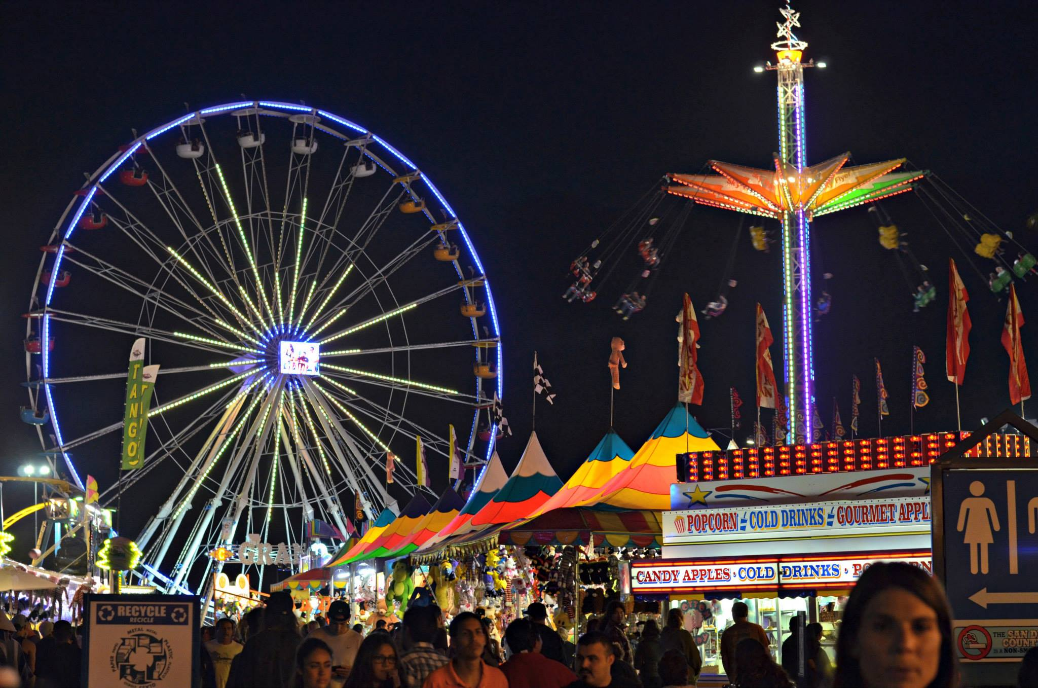 Ways to Save At the San Diego County Fair - enjoying the fair skyline