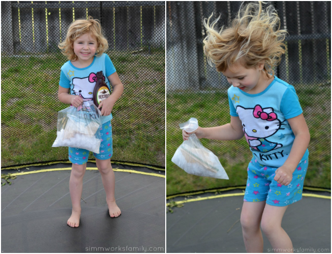 5 Reasons To Be Thankful For Summer + an outdoor movie night idea on a trampoline and making homemade ice cream