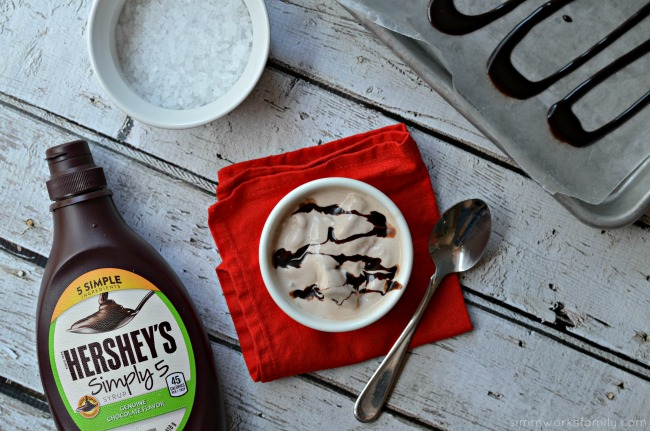 Homemade Chocolate Ice Cream In A Bag with Hershey's Simply 5 syrup